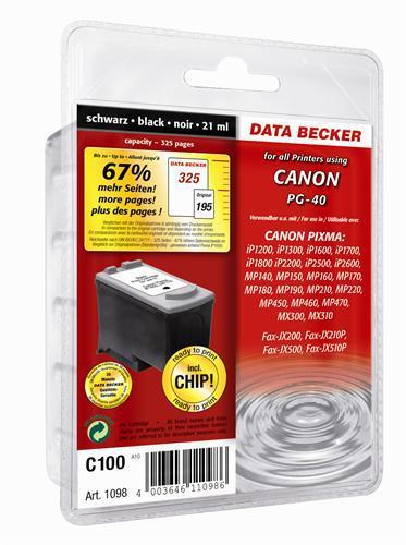 C100 Cartouche jet d'encre pour Canon BLACK (PG-40)
