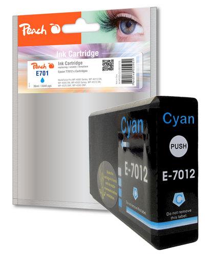 Peach XL-Tintenpatrone cyan kompatibel zu Epson T7012