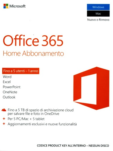 Office 365 Home Abbonamento di 1 anno