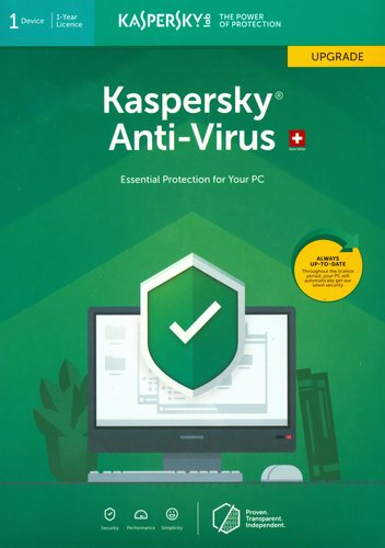 Kaspersky Anti-Virus (1 PC) Upgrade