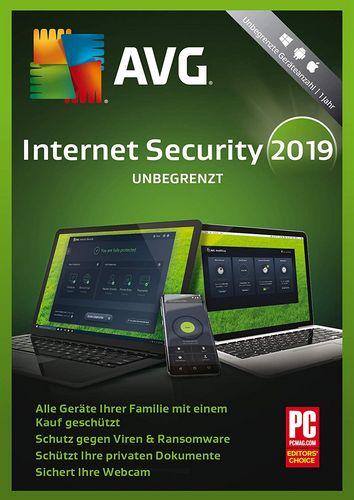 AVG Internet Security 2019 [unbegrenzte Lizenzen]