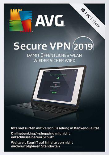 AVG Secure VPN 2019 [1 Jahr Lizenz]