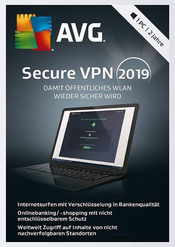 AVG Secure VPN 2019 [1 Lizenz / 2 Jahre]