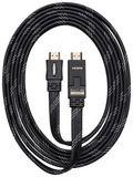 HDMI 1.4 / 3D flat cable 3m - black [PS4]