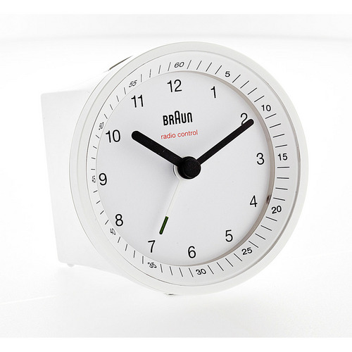 Radio Controlled Alarm Clock BNC007 white