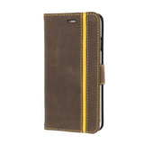 iPhone 6/6s Leather Booklet Stripe w/ Credit Cards Slots - vintage brown
