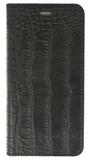 iPhone 7 Plus / Valenta Leather Booklet Classic Style Croco - black