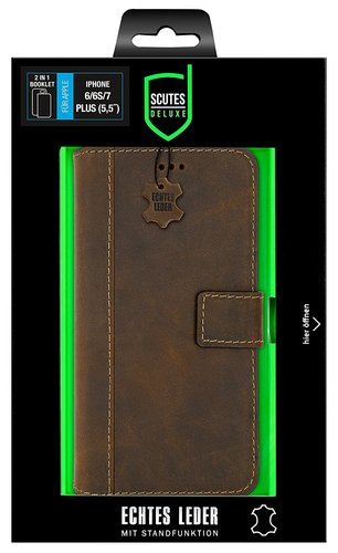 Scutes Booklet Case 2in1 - iPhone 6 / 7 / 8 [w/ Credit Card Slot] - antic brown