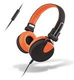 MySound: SpeakStyle Headphones w/ Microphone - black/orange