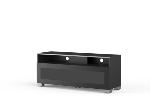 MyTv Stand 12040H - Mobile TV - Glass Black
