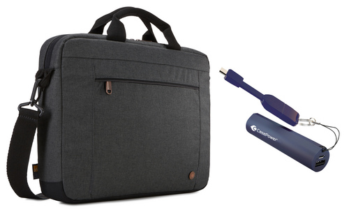 Case Logic Era Attaché [14 inch] Bundle - obsidian grey