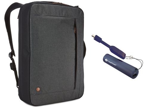 Case Logic Era Convertible Bag [15.6 inch] Bundle - obsidian grey