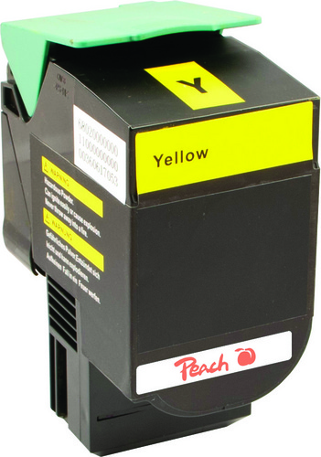 Peach Tonermodul gelb kompatibel zu Lexmark C540H2Yg, C54x, X54x