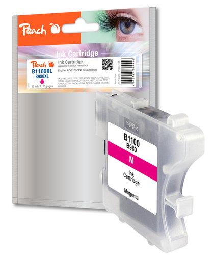 Peach Tintenpatrone magenta kompatibel zu Brother LC-1100m/LC-980m