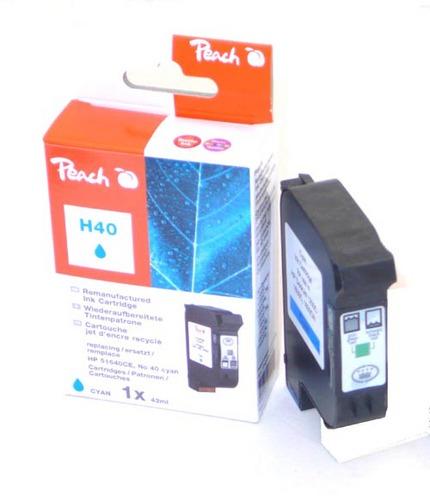 Peach Tête d'impression cyan, compatible avec Xerox, HP No.40, 51640CE