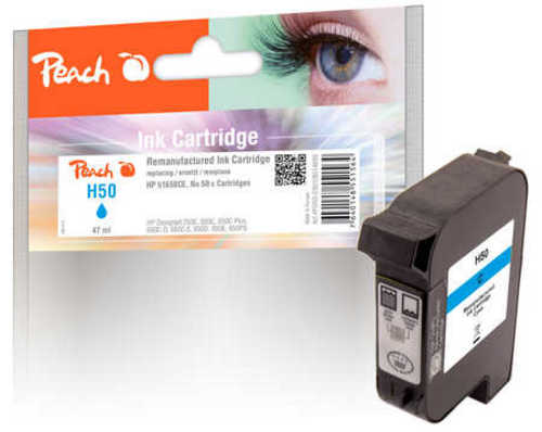 Peach Druckkopf cyan kompatibel zu HP no.50, 51650CE