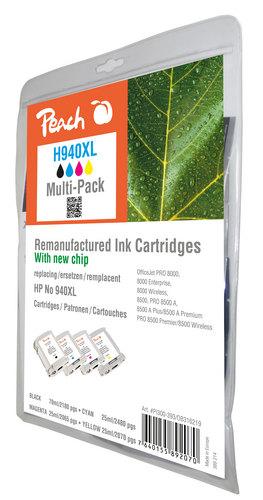 Peach Multipack avec puce, compatible avec HP No. 940XL