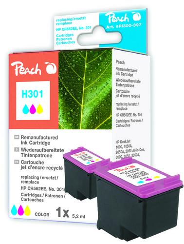 Peach Tête d'impression couleur, compatible avec HP No. 301, CH562EE