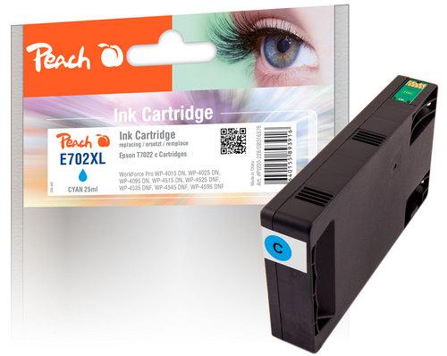 Peach Tintenpatrone cyan kompatibel zu Epson T7022