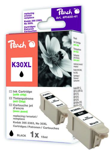 Peach Tintenpatrone schwarz kompatibel zu Kodak 3952363 No.30XL