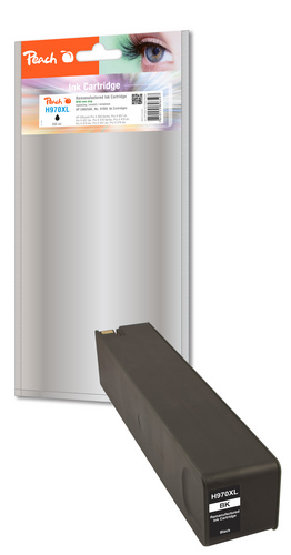 Peach Tintenpatrone schwarz HC kompatibel zu HP No. 970XL, CN625AE