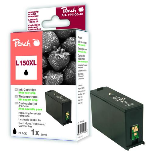 Peach Cartouche d'encre noir XL, compatible avec Lexmark No. 150XL