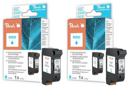 Peach Twin Pack Tête d'impression cyan, compatible avec HP No.50, 51650CE