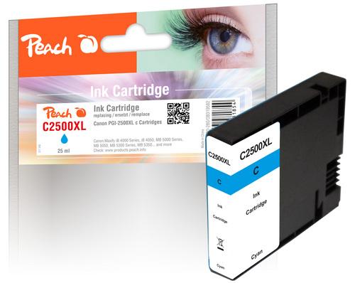Peach XL-Tintenpatrone cyan kompatibel zu Canon PGI-2500, PGI-2500C XL