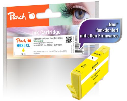 Peach Cartouche d'encre jaune HC compatible avec HP No. 935XL, C2P26AE
