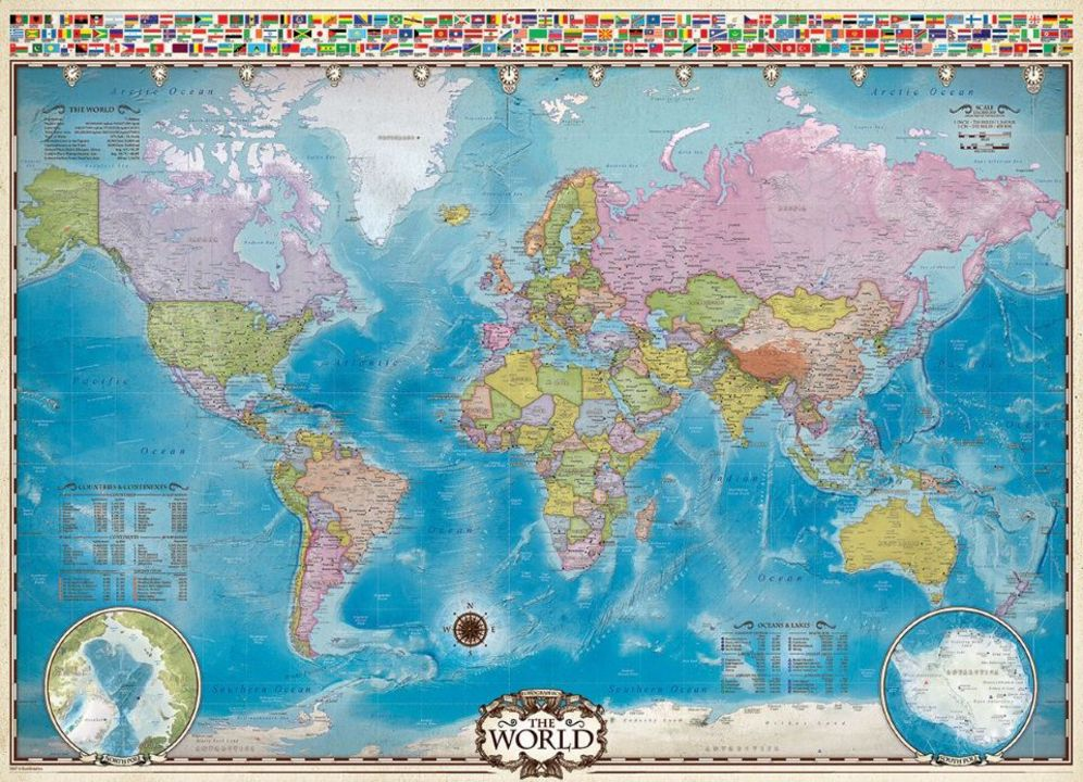 Map of the World - Puzzle [1000 Teile] - Puzzles online bestellen ...