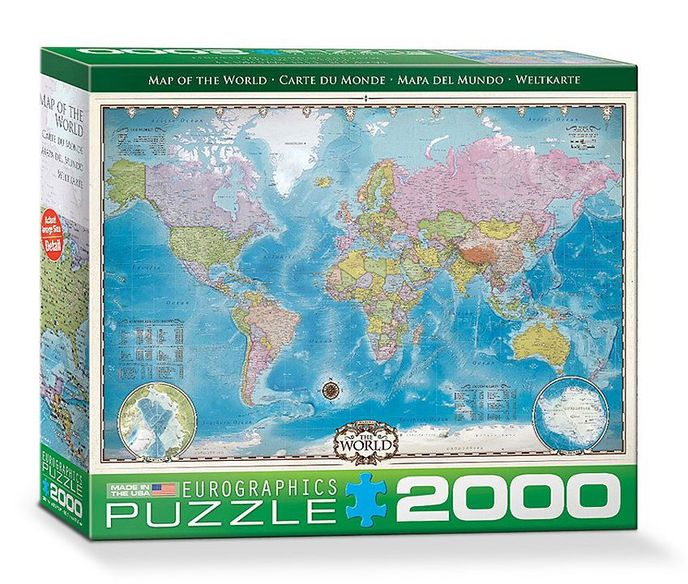 Map of the World - Puzzle [2000 Teile] - Thali