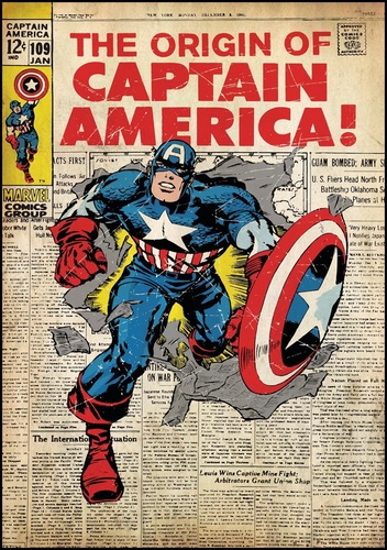 Marvel Comics: Captain America - Sticker