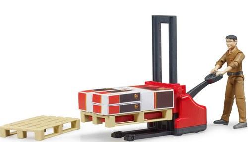 Bruder 62210 - Set avec figurine UPS logistique