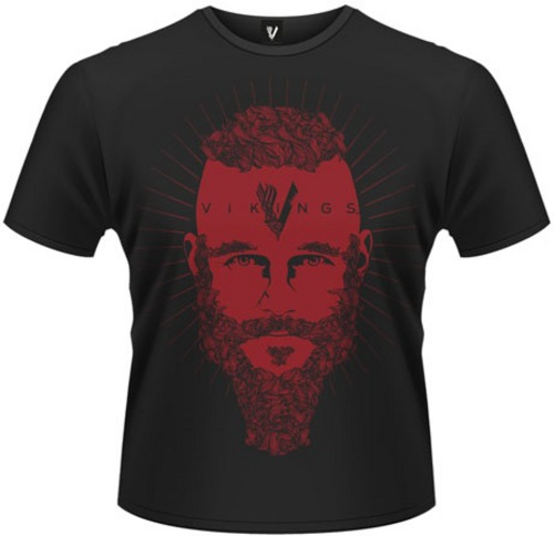 Vikings : Ragnar Face - Tee-Shirt [L]