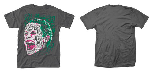 Suicide Squad: Joker Tattooed Face - T-Shirt [S]