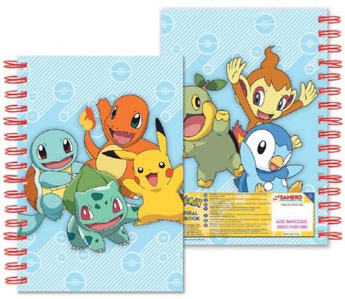 Pokémon: Starters - Notizbuch A5