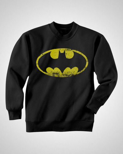Batman : Distressed Logo - Sweater [S]