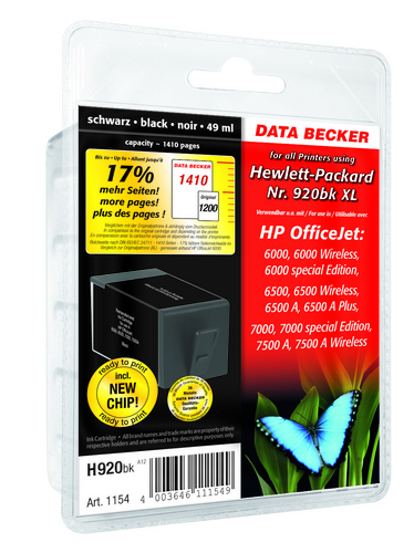 H920BK per HP No. 920bk XL nero Cartuccia d'inchiostro compatibile