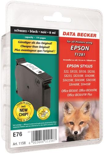 E76 Epson T1281 schwarz kompatible Druckpatrone