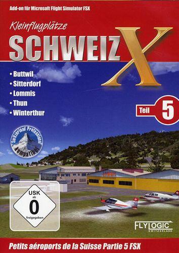 Kleinflugplätze Schweiz X - Teil 5 für FSX [Add-On]