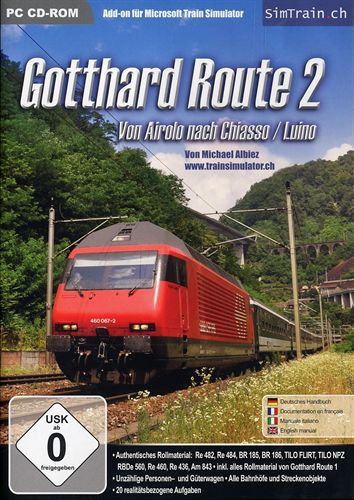 Gotthard Route 2 - Von Airolo nach Chiasso/Luino für TS [Add-On]