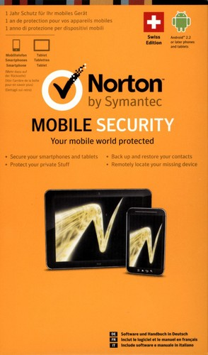 Norton Mobile Security 3.0 1 User Card