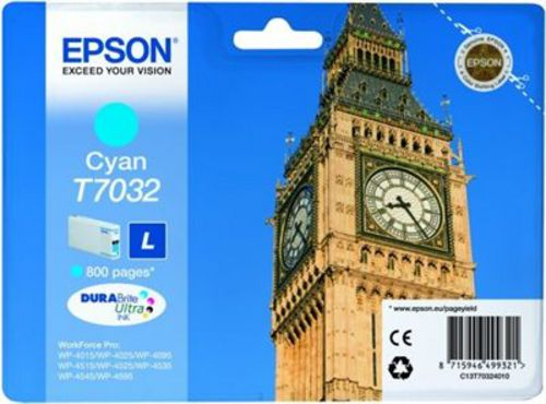 Epson T7032, Cartouche d'encre cyan, 800 pages