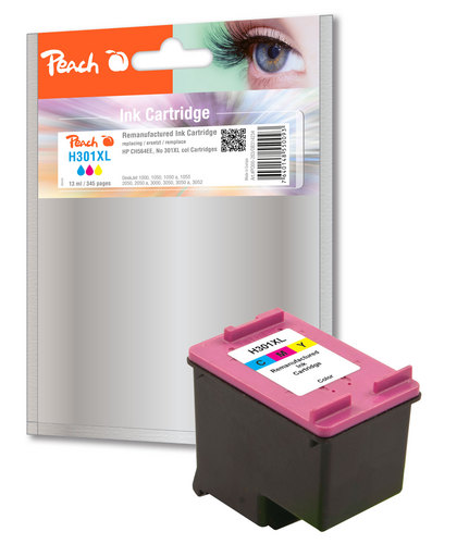Peach Druckkopf color kompatibel zu HP No. 301XL, CH564EE