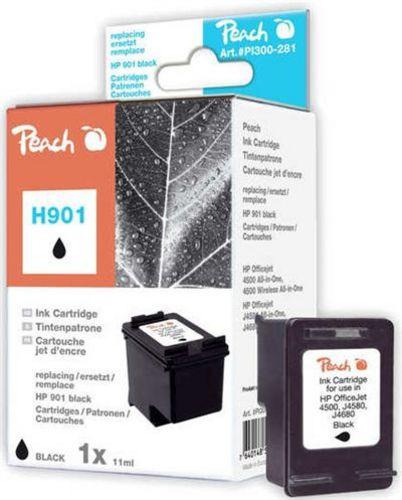 Peach Druckkopf schwarz kompatibel zu HP No. 901, CC653AE