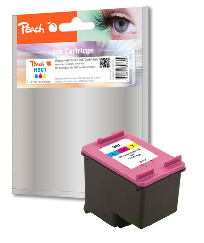 H901 pour HP No. 901XL coloré Cartouche d'encre compatible