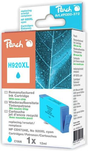 Peach Tintenpatrone cyan HC kompatibel zu HP No. 920XL, CD972AE