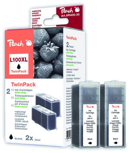 L100XL pour Lexmark No. 100XL noir Cartouche d'encre compatible