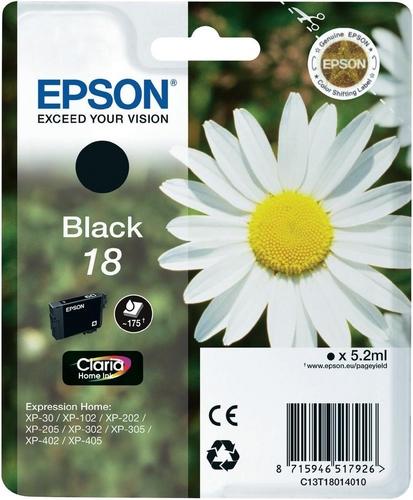 Epson 18, Cartuccia d'inchiostro nero, 175 pagine