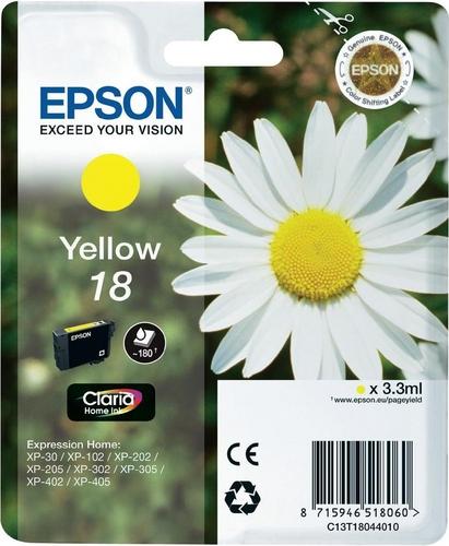 Epson 18, Cartuccia d'inchiostro giallo, 180 pagine